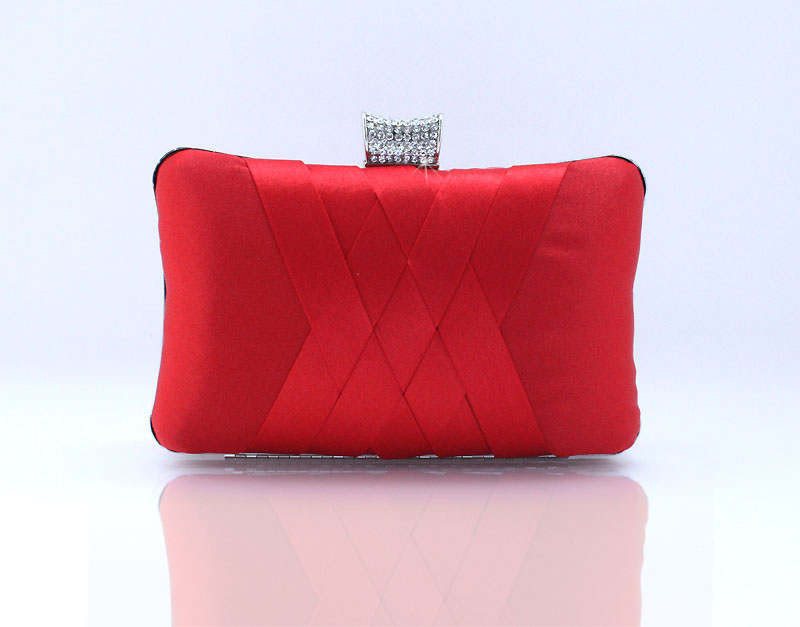 Fashion Design on Sale Full Dress Solid Color Red Evening Bags Women Evening Clutch Purses Handbags Lady party tote purse  64T