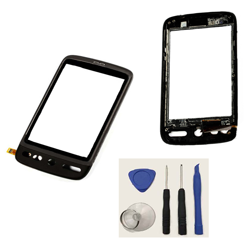 Black Touch Screen Digitizer Touch Panel Glass Sensor For HTC Desire Bravo A8181 G7 With Frame Housing+ Free Tools(China (Mainland))