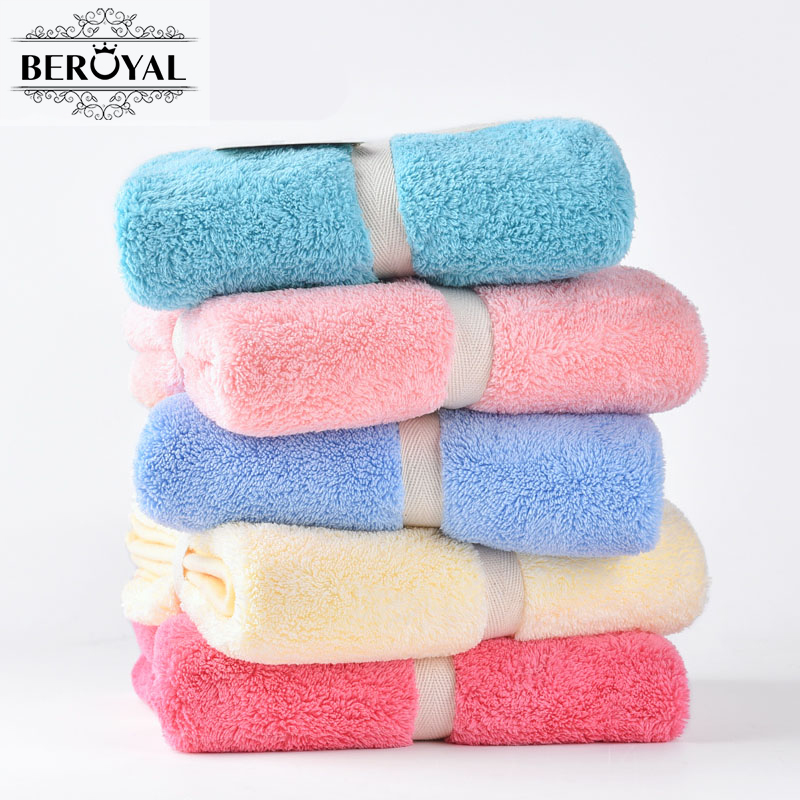 New 2017 Hand Towel - 1piece Microfiber Towel Absorbent Plush Towels Bathroom Magic Travel Towel Super Soft Face Cloth 34*75cm(China (Mainland))