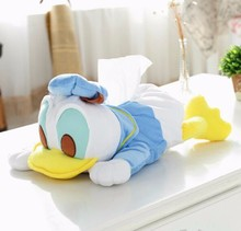 Super cute soft plush Duck / Dumbo Tissue Holder Paper Hanging Bag for Car Kitchen Toilet(China (Mainland))