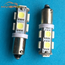 1pcs T11 Ba9s T4w 5050 9smd 9 Smd White Car Led Marker Lamps Auto License Plate Light Door Bulb Dc 12v wholesale High Quality