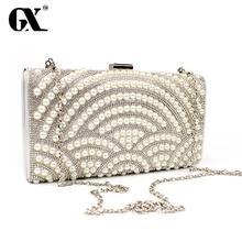 GX clutch vintage Messenger party luxury Bags pearl shoulder Handbag luxury Evening clutch Bags Fashion women crossbody Bags(China (Mainland))