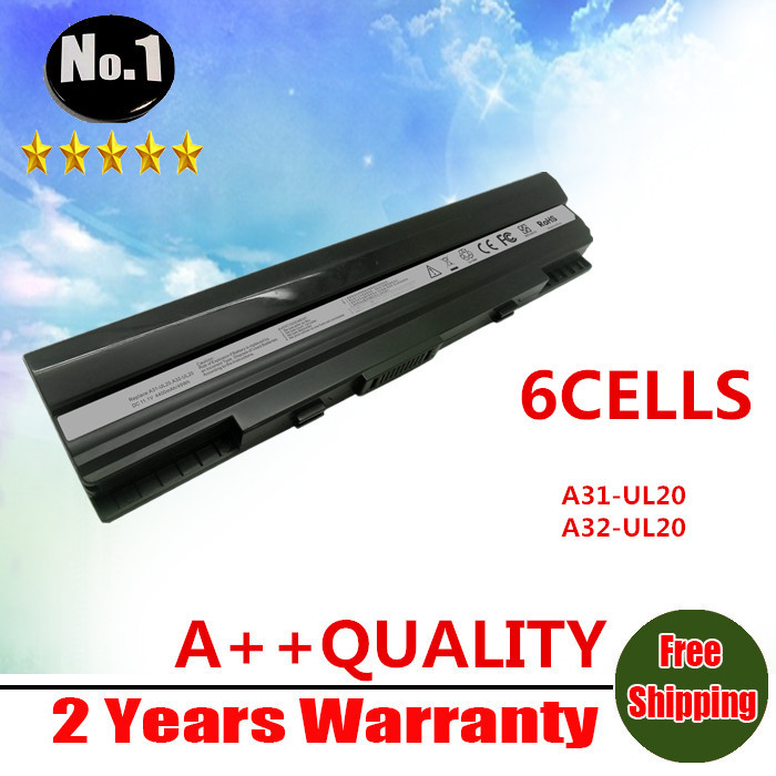wholesale New laptop battery for Asus Eee PC 1201 1201HA 1201N 1201T UL20 UL20A UL20G UL20VT 90-NX62B2000Y A32-UL20(China (Mainland))