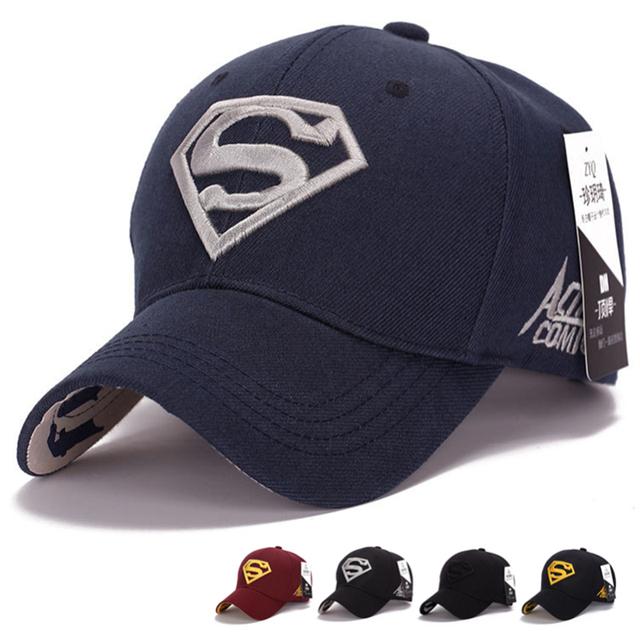 Бесплатная доставка Gorras супермен Casquette супермен бейсболка мужчины марка женщины ...