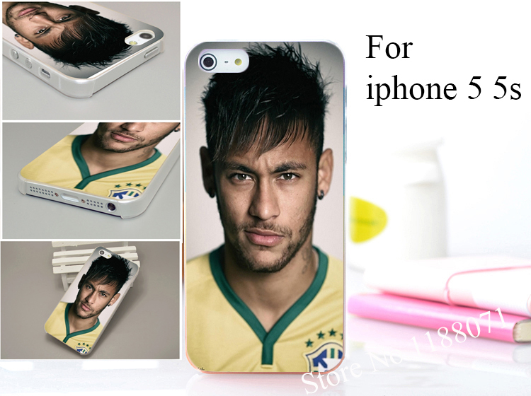 Neymar The Brazilian national football team Neymar da Silva Santos Hard Dull Polish Case Cover for iphone 5 5s 5g 5th 1pcs/lot(China (Mainland))