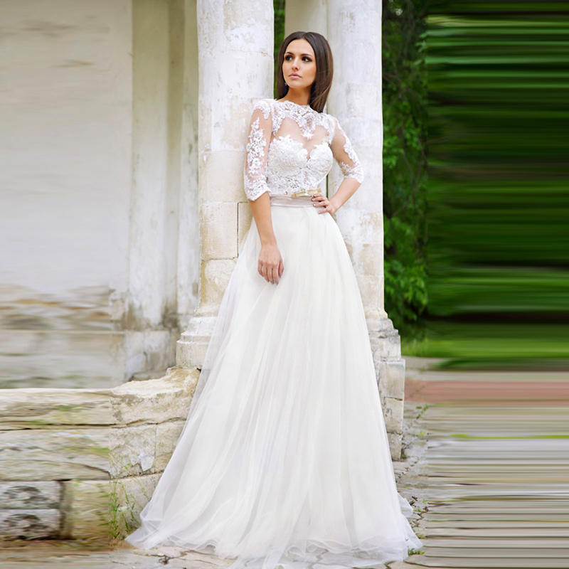 Buy custom made bridal lace white wedding for Backless wedding dresses for sale