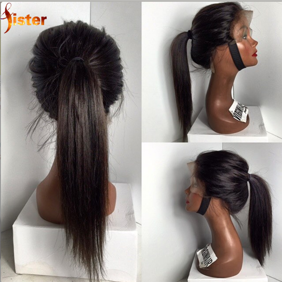 Virgin Brazilian Lace Front Wigs 7A Cheap Brazilian Wigs Lace Front Wig For Black Women Glueless Human Hair Full Lace Wig Stock<br><br>Aliexpress