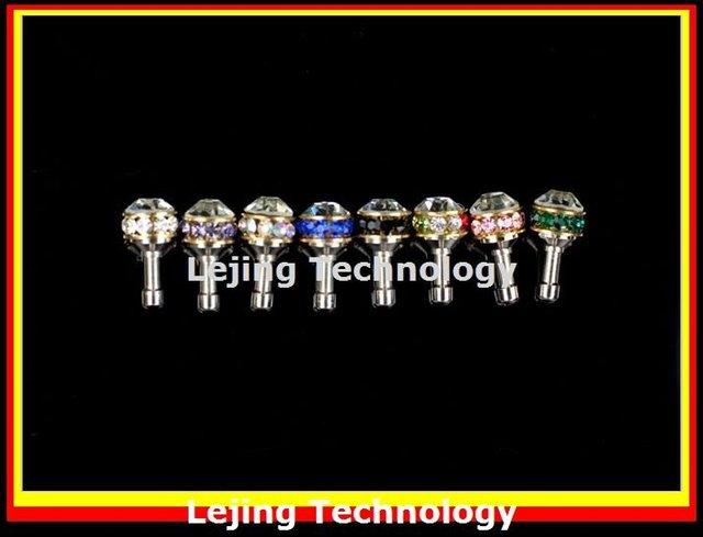 ring diamond dust plug for iphone,ear cap for i9220 i9300,Shamballa Rhinestone dust cap,anti dust plug,earphone jack plug