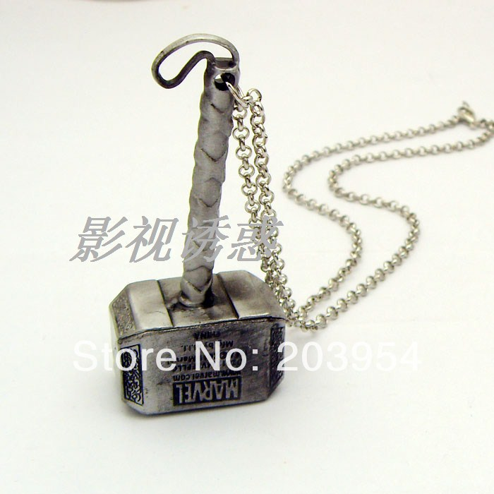 Thor Hammer necklace new movie Free shipping wholesale 20pc/lot The Dark World metal pendants fashion jewelry steampunk style<br><br>Aliexpress
