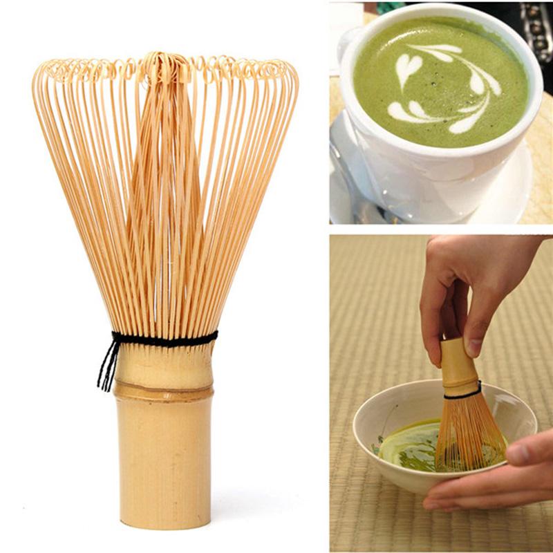 Hot Sale Matcha Whisk Japanese Ceremony Bamboo 64 Matcha Tea Powder Whisk Green Tea Chasen Brush Tool Free Shipping V1NF(China (Mainland))