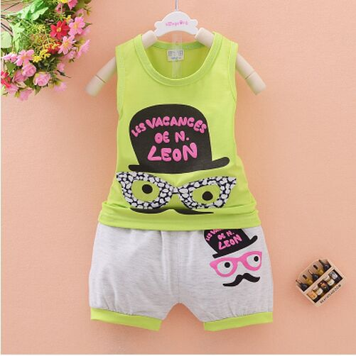 Summer Infant baby clothes vest suit 0-3 years old children's clothing cotton baby suit fashion(China (Mainland))