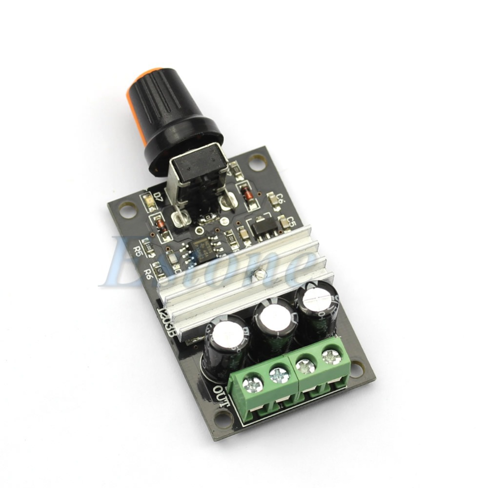 Free Shipping PWM DC 6V 12V 24V 28V 3A Motor Speed Control New Switch Controller(China (Mainland))