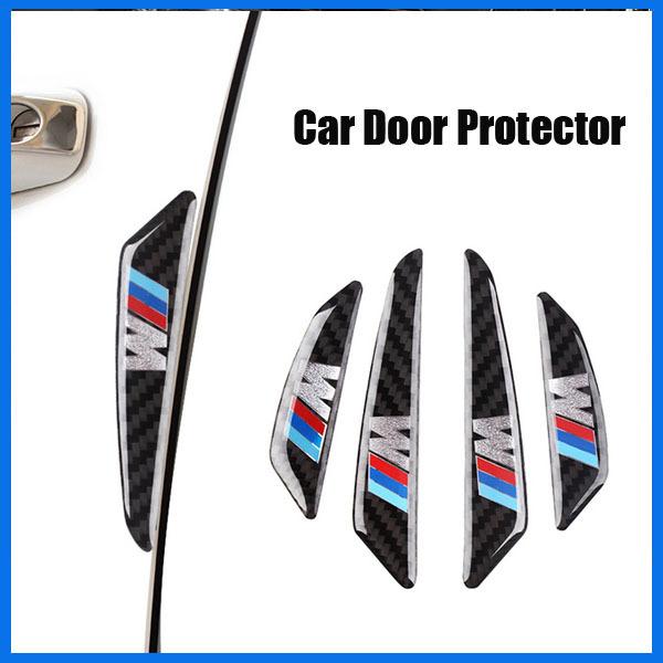 4pcs Real Carbon Fiber car door protection sticker for BMW M3 M4 M5 M6 X1 X5 X6 X3 E81 E82 E87 E90(China (Mainland))