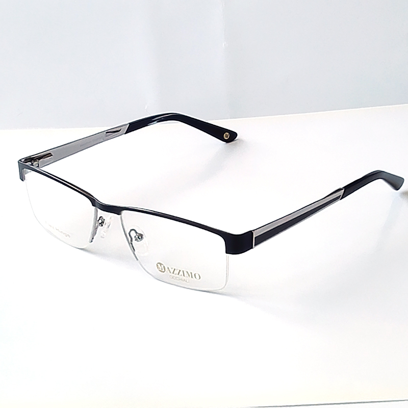 Eyeglasses Frame Measurements : 2016 New arriving man black Metal myopia glasses frame BIG ...
