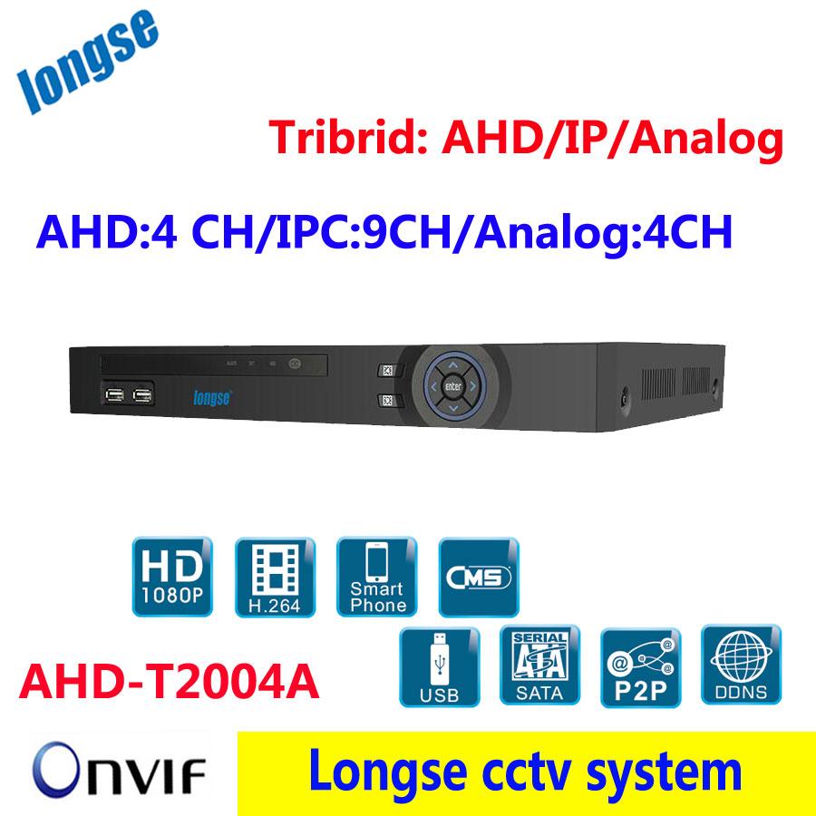 AHD DVR NVR 3 in 1,support 4CH AHD / 9CH IPC /4CH Analog camera , support 2 SATA disk,HDMI, VGA output, USB Backup(China (Mainland))