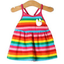 Free shipping children dress harness cotton girl baby dress new summer kids dress 2015(China (Mainland))