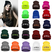 2015 Promotion Rushed Letter Adult Casual Unisex Acrylic Hats for Caps Beanies Bad Hair Day Hat Winter Cap Beanie for