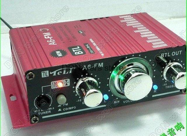 TL-A6FM multifunction amplifier For car audio cd md MP3 ipod phone PC fm transmitter