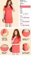 Корейский сладкий леди o шеи короткие шифон один кусок платье lyq8004