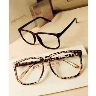 trendy leopard print glasses frame ultra light
