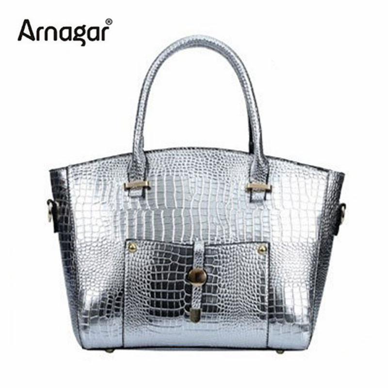 Fashion women alligator handbags gold silver black  famous brand designer women bags Trend crossbody bags