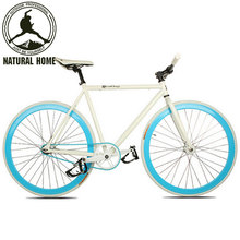 [NaturalHome] Brand Fixed Gear Bicycle Bike for Men Women Bicycle Bicicletas 26 inch Adult Sports Road Bikes Unisex Biycles(China (Mainland))