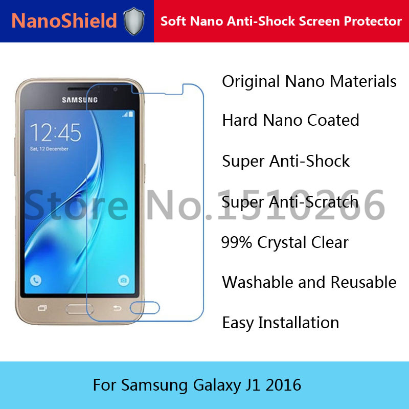 NanoShield Soft Nano Explosion-proof Anti-Shock Screen Protector Film For Samsung Galaxy J1 2016 With Retail Packaging