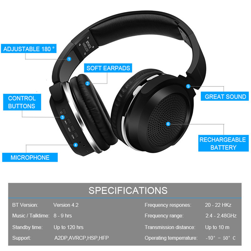 Bluetooth Headphones Bluetooth 4.0 4.2 06