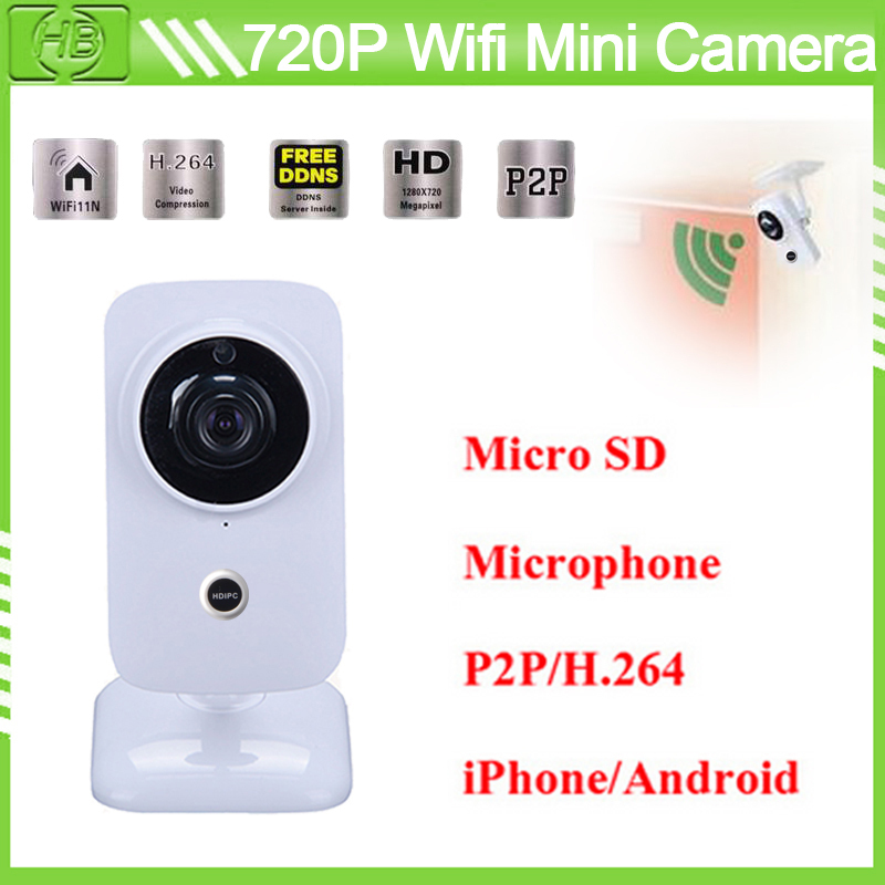 Wireless 1.0MP HD 720P Wifi IP Camera 3.6mm Lens IR Cut P2P H.264 Video Surveillance Support IOS/Android/Windows Two Way Audio(China (Mainland))