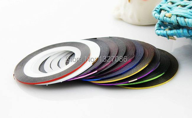 10pcs Striping Tape Line Nail Art Sticker Decoration DIY Decals UV Gel Acrylic Nail Ti[s(China (Mainland))