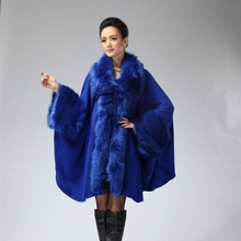 High Quality Autumn And Winter Coat Faux Fur Women Poncho  Faux Fur Coats Shawl 5 Colors  Free Size