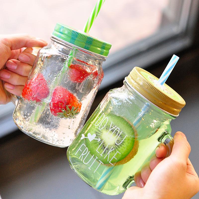Compra frascos de vidrio baratos online al por mayor de - Tarro con pajita ...