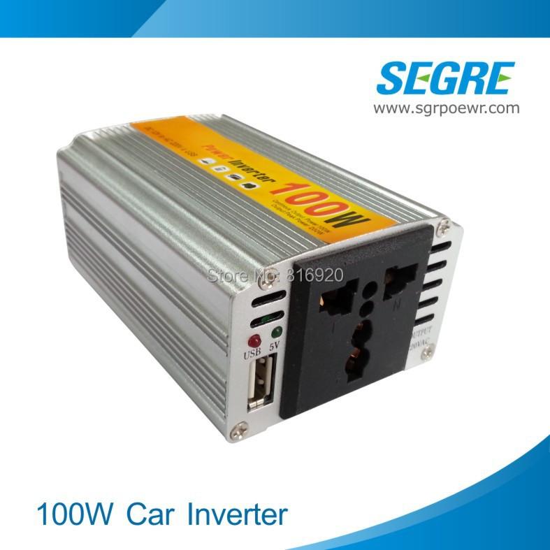 100W dc 12v to ac 220v converter car invertor 1pcs/lot Free Shipping.(China (Mainland))