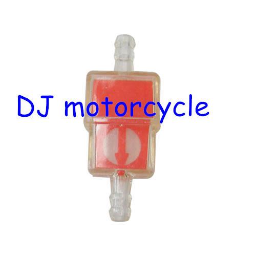 Cheap fuel filter for Yamaha motorcycle  CRF70 dirt bike plastic fuel filter red   49cc pocket bike gas fuel filter ATV