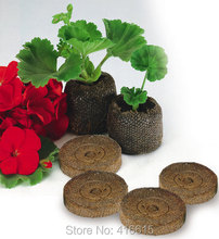50 Count 25mm Jiffy Peat Pellets and Coco Pellets Seed Starting Plugs Seeds Starter Pallet Seedling Soil Block Professional(China (Mainland))