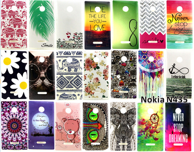 New High Quality Soft TPU Back Cover Super Thin Case For Microsoft Nokia Lumia 435 Cell Phones Case Free Shipping(China (Mainland))