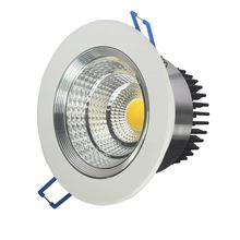 3W 7W 9W 12W 15W 25W 35W LED COB Ceiling light silver body chip Recessed Spot Light Lamp White/ warm white - kleer Eason Store store