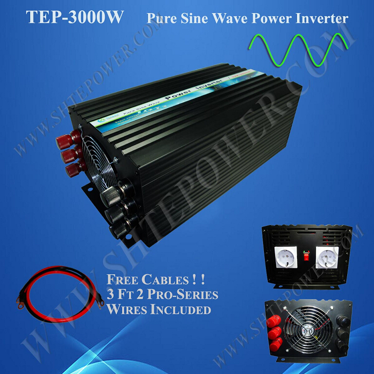 wind solar hybrid power system off grid dc 12v 24v pure sine wave inverter 3kw(China (Mainland))