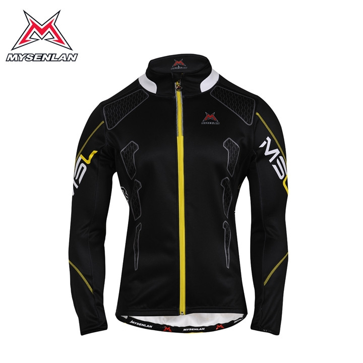 MYSENLAN New Style Men's Winter Fleece Long Sleeve Cycling Jersey Bike Bicycle Outdoor Clothes Shirts Top Jerseys Size S-3XL