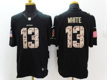 100% stitched,Chicago Bear,Jay Cutler,Kevin White,Alshon Jeffery Kyle Fuller,Walter Payton,Mike Ditka white Black Green Salute(China (Mainland))
