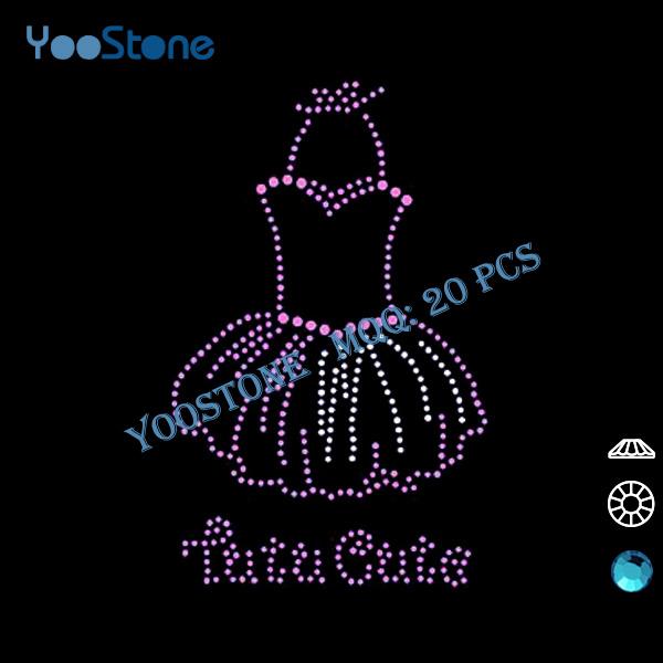 Cheap Cute 20 Pcs/Lot Rhinestone Motif Transfer Design For Lady Clothing, Tutu Cute Rhinestone Transfer Wholesale(China (Mainland))
