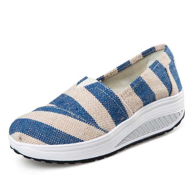 Женщины туфли на платформе свободного покроя для ходьбы Wedgess супер мягкий массаж ...