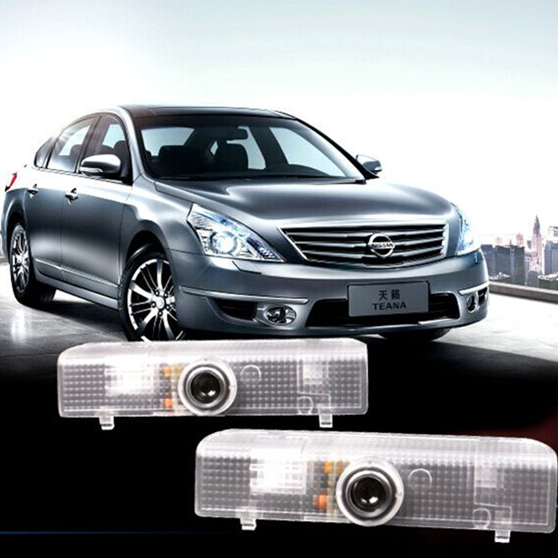 No Drill LED Car door Welcome laser projector Logo Ghost Shadow Light For Nissan Altima Coupe Altima Sedan Armada Maxima(China (Mainland))