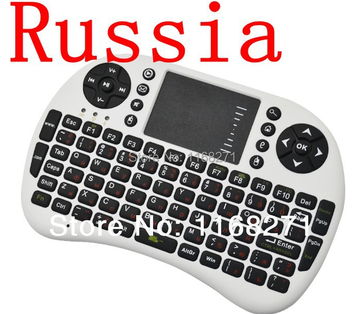 Russian Keyboard fly Air Mouse Remote Control Touchpad Handheld Keyboard for TV BOX PC Laptop Tablet Mini PC(China (Mainland))