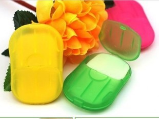 Convenient Washing Hand Bath Travel Scented Slice Sheets Foaming Box Paper Soap wholesale SP01 3pcs(China (Mainland))