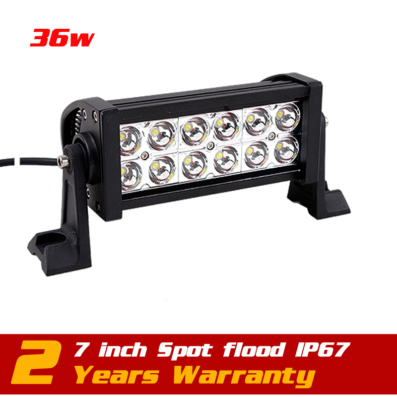 7.5 inch 36W LED Work Light Bar 12v 24v Boat Truck SUV Tractor ATV Offroad Fog Worklight External Save 72w - Victory Group Asia Co.,Ltd store