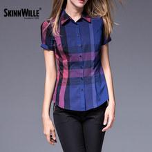 Skinnwille 2017 весна лето женские блузки рубашки женщин плюс размер женщин clothing(China (Mainland))