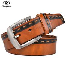 Buy RADYMAN Luxury Men Belts Cow Genuine Leather Pin Buckle England Jeans Straps Natural Full Grain Leather Non-fading Cowboy Belts for $18.56 in AliExpress store