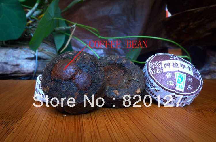 5g 20pcs Coffee Flavour Coffee Bean Puerh Tuo Tea Puer Pu er Tea 2pcs coffee bean