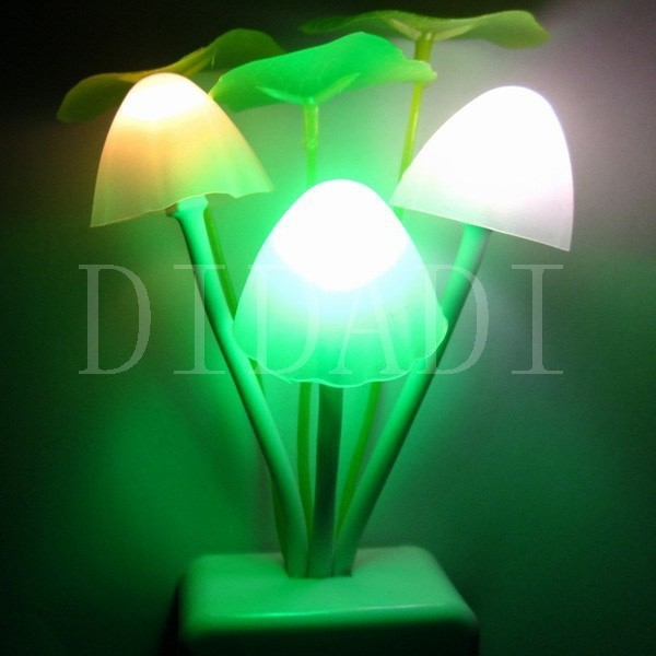 2014 New Romantic Mini Lovely Led Cute Color Changing Mushroom Night Light Energy Saving Control Lamp Sensor US/EU Plug - ShenZhen GlobalPower Industry Co., LTD. store